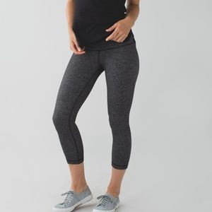 Lululemon Wunder under high rise crop herringbone